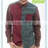 Custom mens checked cotton shirt Image