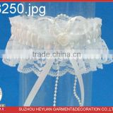 M8250 Wholesale Bridal Wedding Garter Belt with White Rose