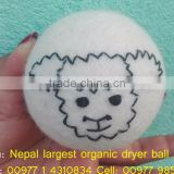 Handmade animal face felt dryer balls/Wool made in Nepal dryer balls