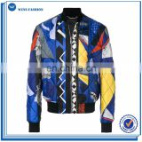 Leather jackets oem zippered pocket winter Sports Jackets quilted bomber jackets for men