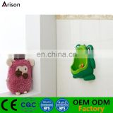 Factory children cute frog potty piss trainer urinal stand vertical toilet with suckers