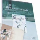 150gsm 35 sheets wire bound colored cover 27x38cm Sketch pad