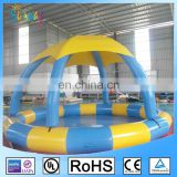 Sunway New Design Round Inflatable Portable Swimming Pool with Roof
