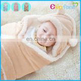 Elinfant hot sale soft cotton new born baby quilt baby waddle blanket