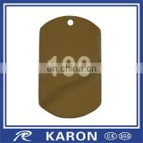 50*30mm steel name tag pendant with laser engraved logo