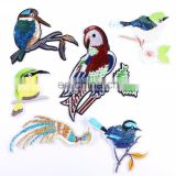 Cute Iron On Sequin Embroidery Birds Patches Applique