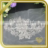 Handwork Bridal Gown Applique Crystal Sash Beaded Rhinestone Applique for Wedding Dress FHA-055