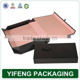 Wholesales Yifeng 100% Quanlity Luxury Decorative Black Matt UV Flat Pack Paperboard Folding Gift Box