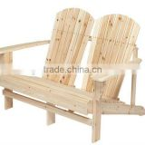 unfinished Adirondack Bench double wood chair