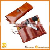 Retro Bandage Synthetic Leather Pen Bag Pencil Case Makeup Pouch,Leather Makeup Cosmetic Roll