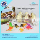 Promotional custom size growing and hatching small spot dinosaur egg toys for children observe game