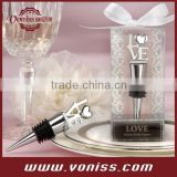 """LOVE"" Chrome Bottle Stopper wedding wine stopper wedding wine opener Wedding Favor Wine Stopper,Silver"