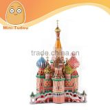 2014 newest toys 3D Puzzle - Saint Basil's Cathedral education toy for children
