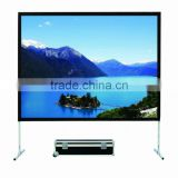 large projection screen, front and rear projection screen