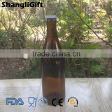 550ml Amber Color Glass Beer Bottle With Crown Cap