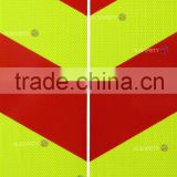 fluorescent yellow-green high intensity prisamtic reflective sheet-Rear-marking plate for vehicles