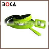 // yiwu belt factory high quality new fashion belt for lady // with hot selling ladies' fashion plastic belt buckle //