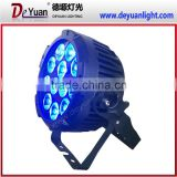 2015 NEW style mini led par can 12pcs RGBWA 5in1 led slim par outdoor wedding party wash light