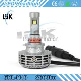 Aluminum 3000K, 4300K, 6500K, 8000K, 10000K 25W conversion kit IP65 led headlight All in one design defective rate under 1%