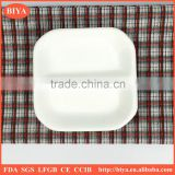 dish plate france porcelain square two 2 divide small food dishes plate for seasoning oil juice or soy sauce ceramic, bone china