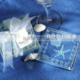 wedding favors new arrival beach theme square starfish Glass Coaster party giveaways to your guest