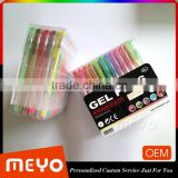 Rainbow erasable glitter gel ink pen for children painting
