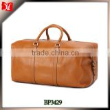 Latest men leather designer travel bag with high quality convenient carrying waterproof duffel bag