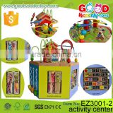 New Design Six-sides Cube Toys Children Educational Wooden Activity Center for Kids                                                                         Quality Choice