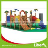 China TUV Approved Commercial Kids Outdoor Wooden Playground Slide