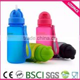400ml kids bpa free plastic water bottle with straw