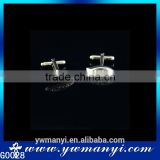 Fashional custom white crystal cufflink high quality polishing G0028