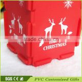high quality custom plastic pen holder christmas decorating 2015/ plastic pen hlolder christmas decoration supplies