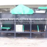 Waste plastic PET flakes,PP cover(cap),washing & separation tank,Separating machine Manufactory