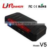 20000mA mini power bank charger muti-function car jump starter emergency lipo battery with red warning light