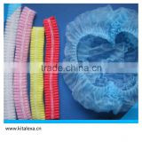 The supply of non-woven disposable disposable dust-proof strip cap mushroom cap hairnet green hat