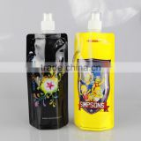 Customized foldable fruit infuser water bottle/water bottle collapsible