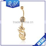 Gold Dragon Jewelry Hanging Navel Ring Jewelry