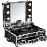 Aluminum cosmetic case with Trolly and light D9551