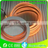 orange color of waterproof electroluminescent tape using for outside decoration