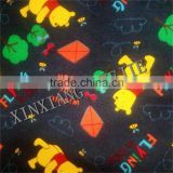 new design custom cartoon printed flannel fleece fabric for blankets