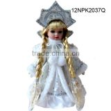 Wholesale custom porcelain snow girl Russian girl doll candy bag