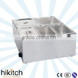 Kitchen equipment Table-Top stainless steel Electric Buffet food warmer bain marie for restaurant.