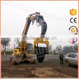 Excavator mounted hydraulic pile driver hammer for concrete piles                                                                         Quality Choice