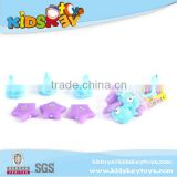 Mini print bath toy vinyl animals