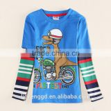 (A5655Y) children clothing nova kids wear baby boys t shirts 100%cotton printed funny cartoon animal parttern top casual wear