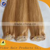 Wholesale Top Quality No Tangle No Shedding Clip In Human Hair Extension /Clip Weft /Clips Extension 100%Human Hair