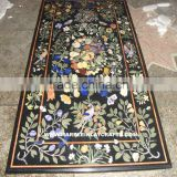 Pietra Dura Marble Inlay Dining Table Top, Inlay Dining Table Top, Decorative Marble Inlay Beautiful Table Top
