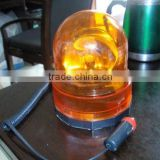 "Amber Revolving Warning Yellow Light HD Magnetic Warning light Base 8"" Coiled Cord Auto Truck"