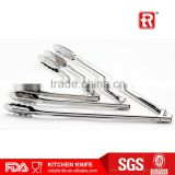 OEM manufacture LFGB approved Stainless Steel Food Tongs Barbecue Tongs ring locking                                                                         Quality Choice