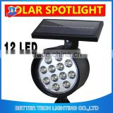 Newest item Factory Manufacture Garden Spot Light 12 LED Outdoor Solar Pathway Decoration Flood Light